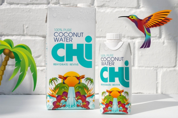 Chi Coconut Water designed by Leahy Brand Design