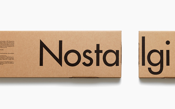 Nostalgi packaging designed by Bedow