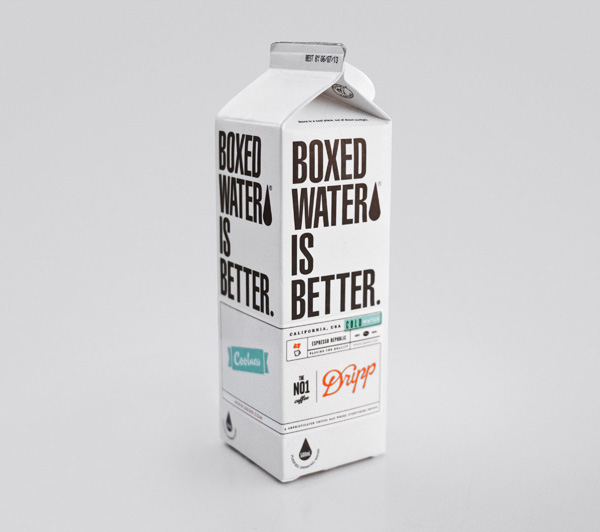 Dripp Boxed Water designed by Salih Kucukaga