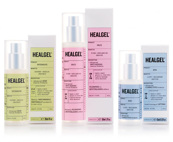 Healgel designed by Pentagram