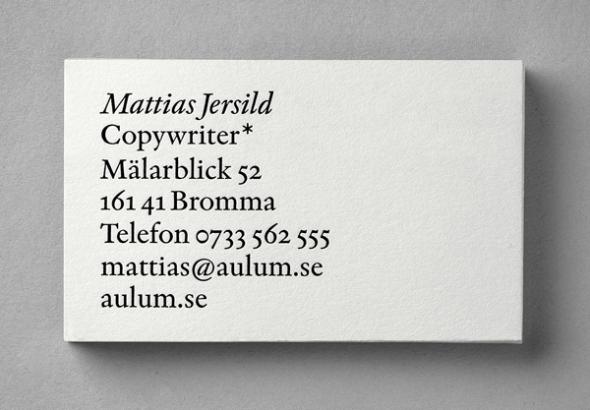 Mattias Jersild designed by BVD